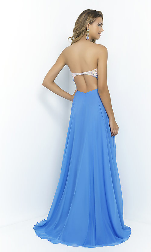 Image of Blush Strapless Sweetheart A-Line Gown  Style: BL-9998 Back Image