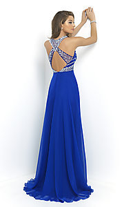 Image of High Neck Long Beaded Gown by Blush 10001 Style: BL-10001 Back Image