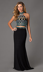 Image of Two Piece Dave and Johnny Prom Dress 1166 Style: DJ-1166 Front Image