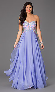 Strapless Sweetheart Floor Length Dress by Rachel Allan