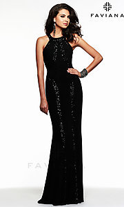Image of Faviana Designer Evening Gown 7510 Style: FA-7510 Detail Image 1