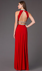 Image of Open Back Two Piece Beaded Prom Dress Style: FA-S7511 Detail Image 3
