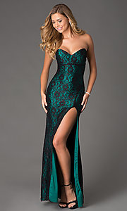 Atria Strapless Sweetheart Lace Prom Dress 2100