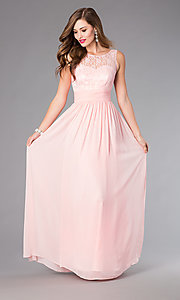 Image of Pastel Lace Gown for Prom Style: DQ-8769 Detail Image 2