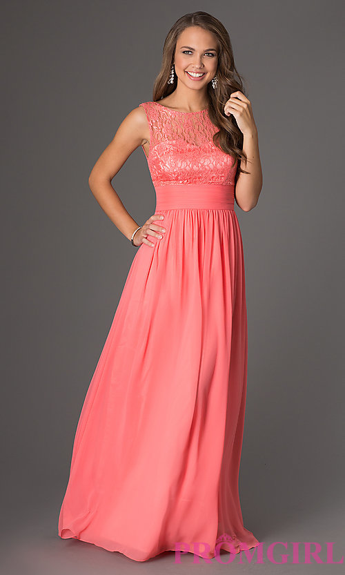 Image of Pastel Lace Gown for Prom Style: DQ-8769 Detail Image 1