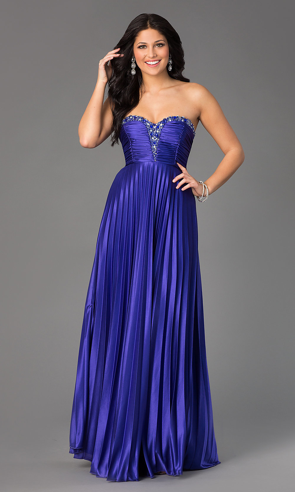 Long Strapless My Michelle Prom Dress Under $100