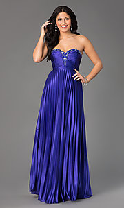 Long Strapless Prom Dress by Sequin Hearts