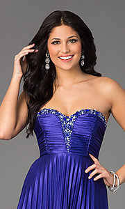 Image of Long Strapless Prom Dress by My Michelle Style: MY-2288SK1S Detail Image 1