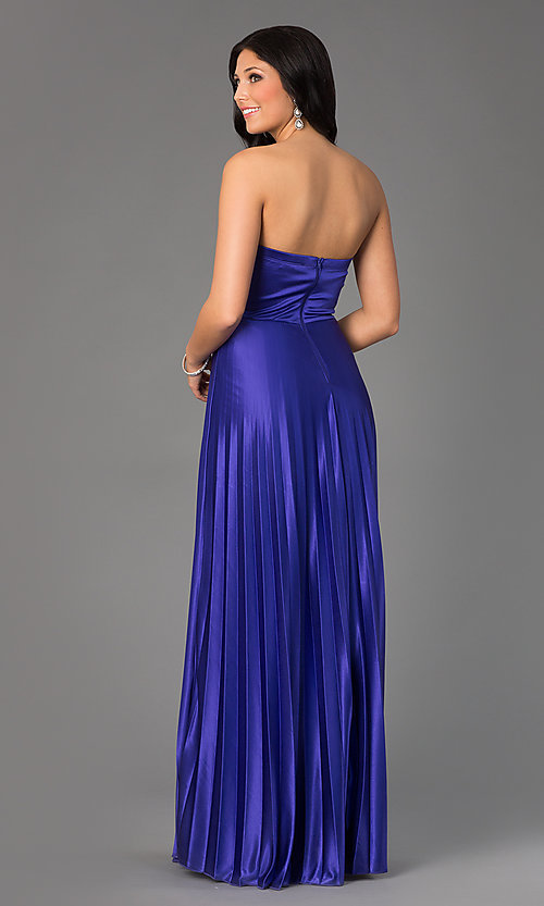 Image of Long Strapless Prom Dress by My Michelle Style: MY-2288SK1S Back Image