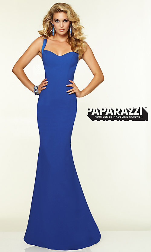 Image of Mori Lee 97099 Sleek Backless Prom Gown  Style: ML-97099 Detail Image 2