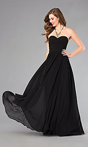 Image of Strapless Prom Dress with Lace Up Back Style: DQ-8789 Detail Image 2
