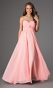 Image of Strapless Prom Dress with Lace Up Back Style: DQ-8789 Front Image