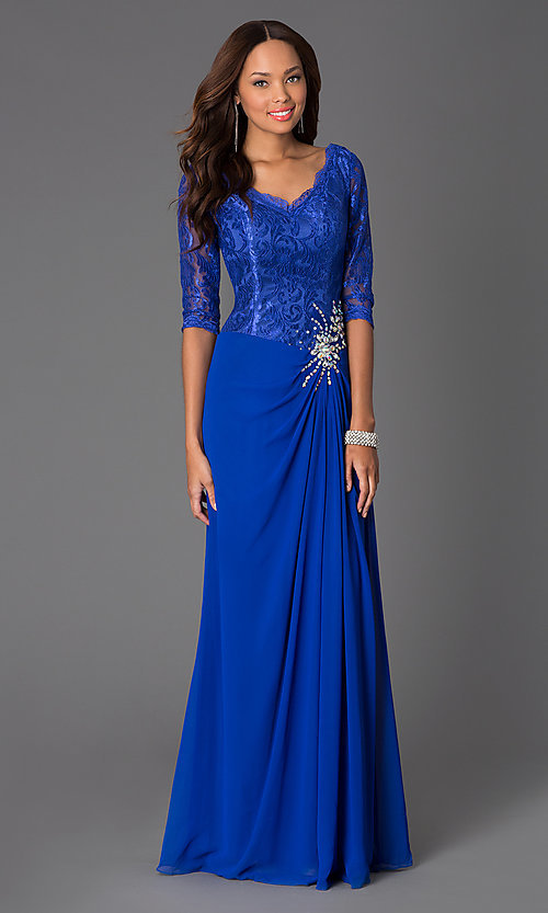 V Neck Evening Gowns