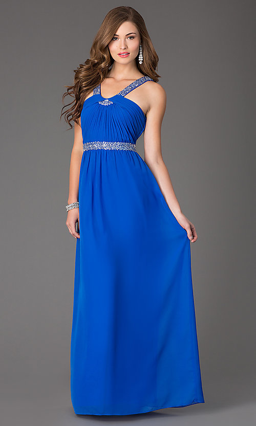 Image of sleeveless floor-length dress by Hailey Logan Style: HL-211s66190 Front Image