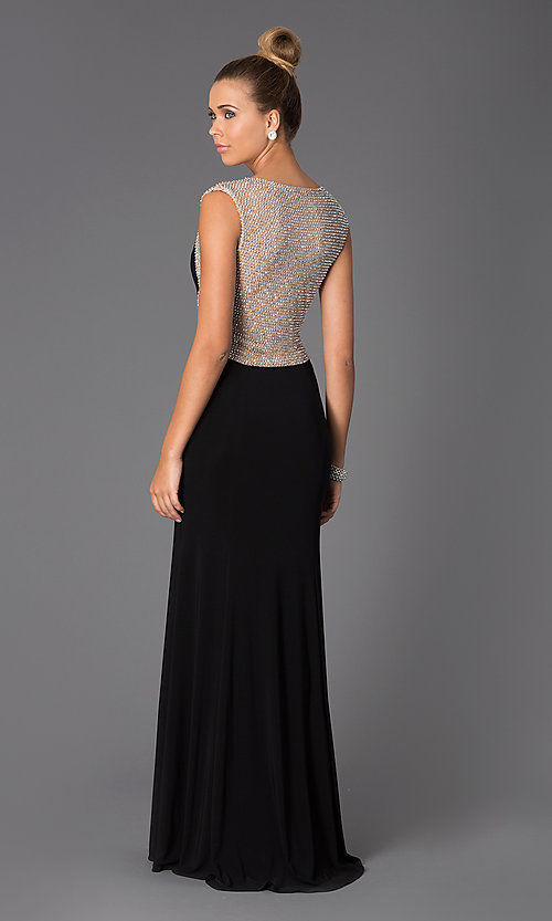 Image of Long Black Gown for Prom Style: X-XS5844 Back Image