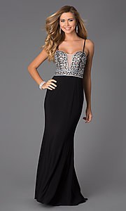 Spaghetti Strap Floor Length Dress by Blondie Nites