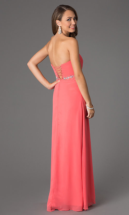 Cheap Long Prom Dress with Corset Back - PromGirl
