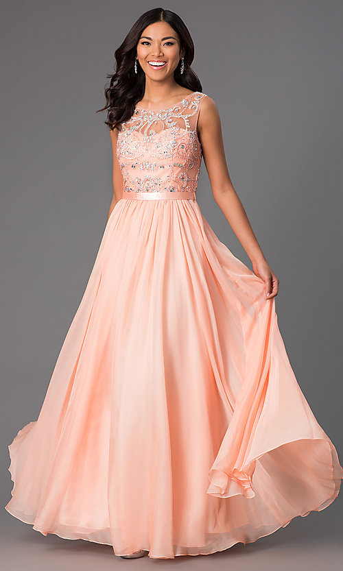 Image of Jeweled Long Sleeveless Prom Dress  Style: DQ-8736 Front Image