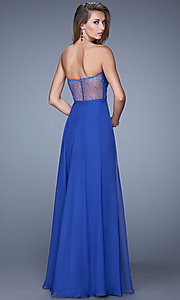 Image of Strapless Beaded Gown by La Femme 21054 Style: LF-21054 Back Image