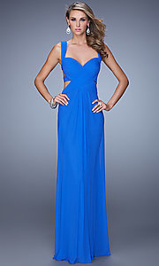 Image of La Femme Sweetheart Gown with Open Back Style: LF-21160 Front Image
