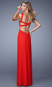 Image of La Femme Sweetheart Gown with Open Back Style: LF-21160 Back Image