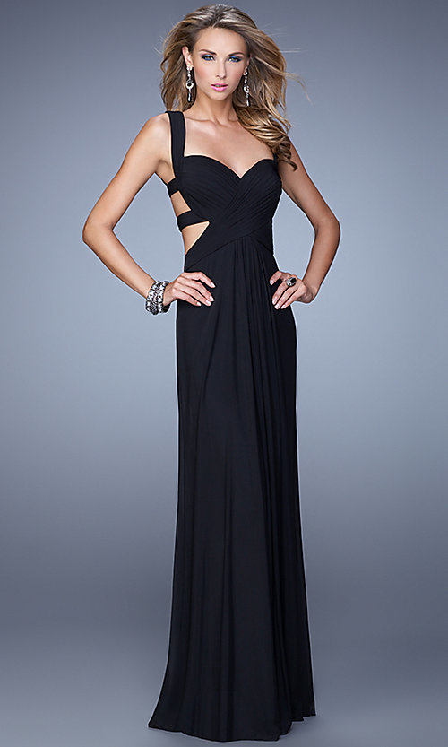 Image of La Femme Sweetheart Gown with Open Back Style: LF-21160 Detail Image 2