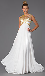 Image of High Neck Floor Length Prom Dress Style: CD-1103 Front Image