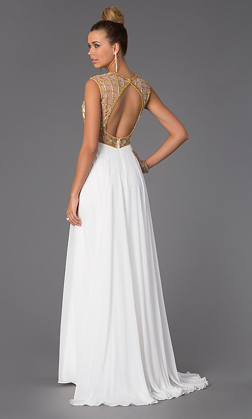 Image of High Neck Floor Length Prom Dress Style: CD-1103 Back Image