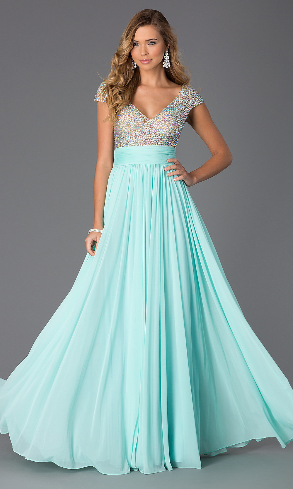 Long Sleeve Gowns, Short Sleeve Prom Dresses - p2 (by 32 - popularity)