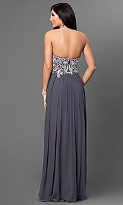Image of Floor Length Strapless Sweetheart Dress Style: JO-JVN-JVN20365 Back Image