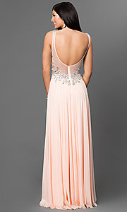Image of Sleeveless Long V-Neck Gown JVN by Jovani Style: JO-JVN-JVN99401 Back Image