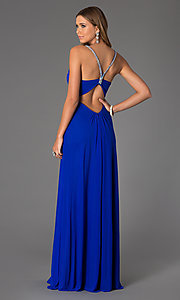Image of Sleeveless Low Cut Prom Dress Style: JO-JVN-JVN20405 Back Image