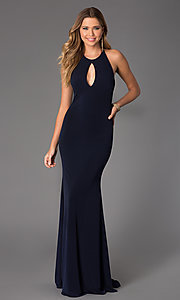Image of Long Open Back Dress from JVN by Jovani Style: JO-JVN-JVN21053 Detail Image 1