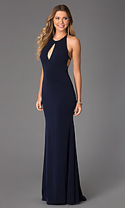 Image of Long Open Back Dress from JVN by Jovani Style: JO-JVN-JVN21053 Detail Image 2