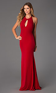Image of Long Open Back Dress from JVN by Jovani Style: JO-JVN-JVN21053 Front Image