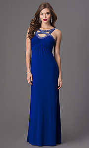 Floor Length Sleeveless Empire Waist Dress