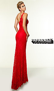 Image of One Shoulder Lace Evening Gown Mori Lee Style: ML-97112 Back Image