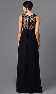 Image of Sleeveless Floor Length Lace Dress Style: LP-22297 Back Image