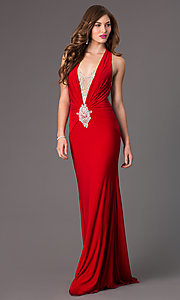 Image of Long Open Back Formal Gown by Jasz 5462 Style: JZ-5462 Back Image