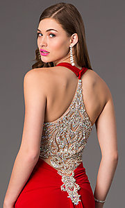 Image of Long Open Back Formal Gown by Jasz 5462 Style: JZ-5462 Detail Image 2