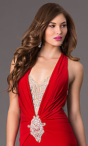 Image of Long Open Back Formal Gown by Jasz 5462 Style: JZ-5462 Detail Image 1