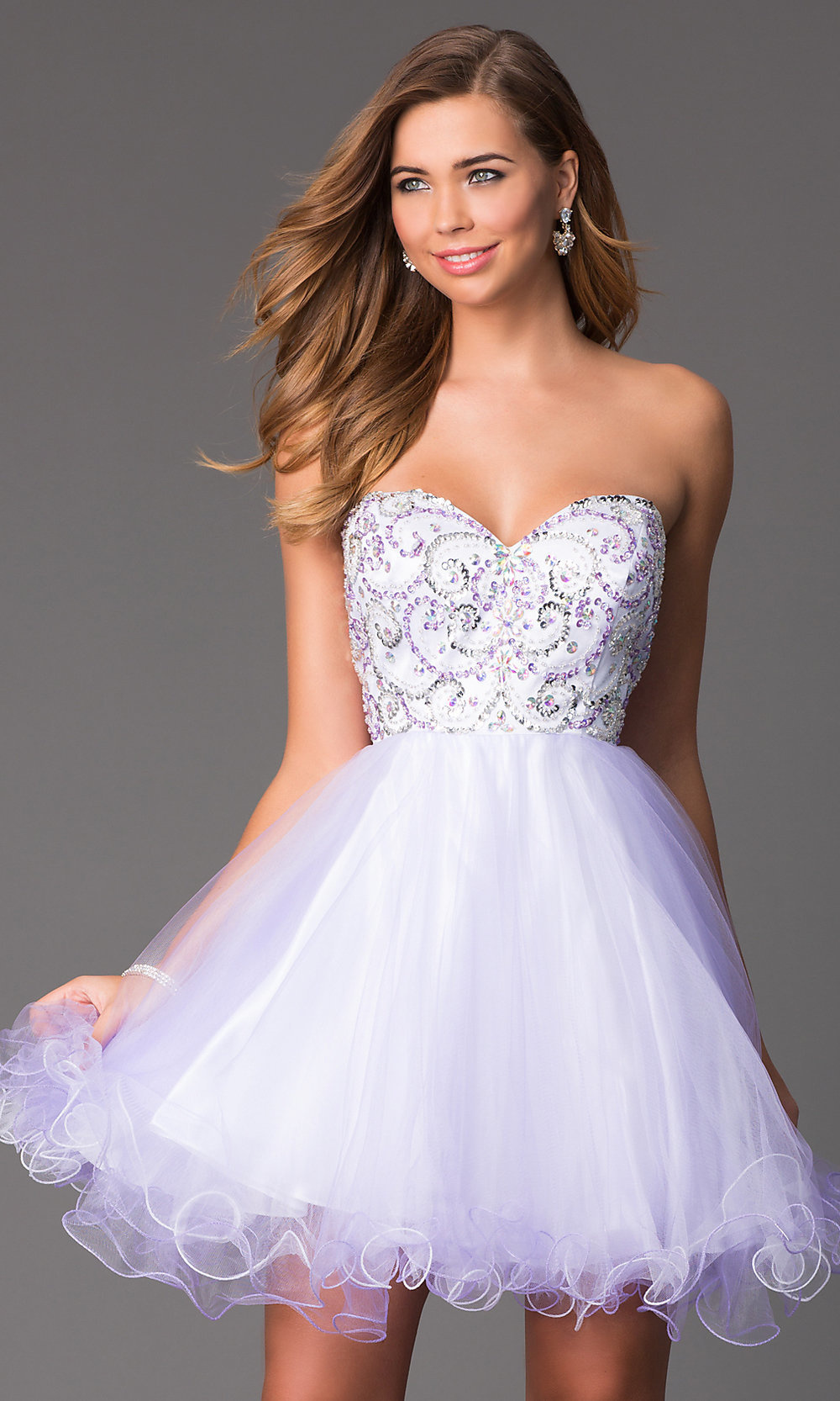Short Strapless Prom Dress Corset Back Party Dress
