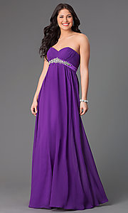 Floor Length Strapless Xcite Dress