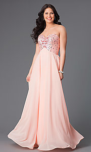 Long Strapless Xcite 30527 Prom Dress