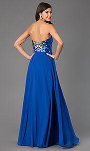 Image of Long Strapless Xcite 30527 Prom Dress  Style: XC-30527 Back Image