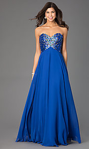 Image of Long Strapless Xcite 30527 Prom Dress  Style: XC-30527 Detail Image 2