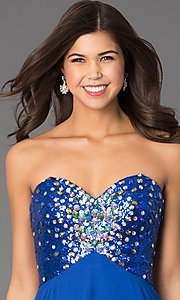 Image of Long Strapless Xcite 30527 Prom Dress  Style: XC-30527 Detail Image 3