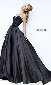 Sherri Hill Strapless Sweetheart Ball Gown