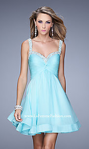 Short A-Line Sweetheart La Femme Dress