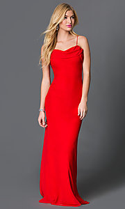 Floor Length Spaghetti Strap Prom Dress
